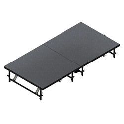 "Staging 101 4x8 Mobile Folding Stage, Adjustable Height (8""-24"") 4x8, 8x4, 32 square feet, 32 feet, 4 x 8, 8 x 4, 4x8, 8x4, height adjustable, portable staging, mobile stage, stage with wheels, folding stage"