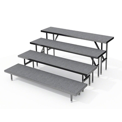 Staging 101 4-Tier Straight Standing Choral Riser choral risers, chorus risers, choir risers, standing risers, school risers