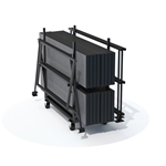 Staging 101 Choral Riser Trolley storage, dolly, handtruck, rolling cart, casters, road cart