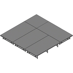 "Staging 101 12x12 Stage System, 16""-24"" High 12x12, 12 x 12, 144 square feet, folding stage, 4x36, 4 x 36, 36x4"