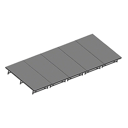 "Staging 101 8x20 Stage System, 16""-24"" High 8x20, 20x8, 8 x 20, 160 sqft, 160 square foot stage, dual height, adjustable height, 4x40, 40x4, 4 x 40, 40 x 4"