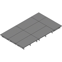 "Staging 101 12x20 Stage System, 16""-24"" High 12x20, 20x12, 12 x 20, 240 sqft, dual height, adjustable height"