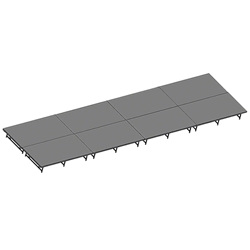"Staging 101 8x32 Stage System, 16""-24"" High 16x16, 16 x 16 staging platform, stage deck, dual height, adjustable height, 8x32, 32x8, 8 x 32, 32 x 8"