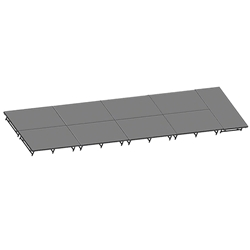 "Staging 101 8x36 Stage System, 16""-24"" High stage 101, staging 101 portable stage, 12x24, 24x12, 36x8, 8x36, 288 square feet, dual height, adjustable height"