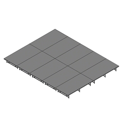 "Staging 101 16x20 Stage System, 16""-24"" High 16x20, 20x16, 20 x 16 staging platform, stage deck, dual height, dual height, adjustable, 8x40, 40x8, 8 x 40"