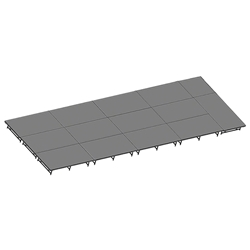 "Staging 101 12x36 Stage System, 16""-24"" High 12x36, 36x12, 36 x 12 staging platform, stage deck, dual height, adjustable, 432 sq ft, 432 square feet"