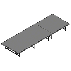 "Staging 101 4x12 Stage System, 16""-24"" High 4x12, 12x4, 4 x 12 staging platform, stage deck, dual height, adjustable height"