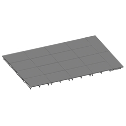 "Staging 101 16x36 Stage System, 16""-24"" High 24x24, 24 x 24 staging platform, stage deck, 576 sqft, 576 square foot stage, dual height, adjustable, 16x36, 16 x 36"