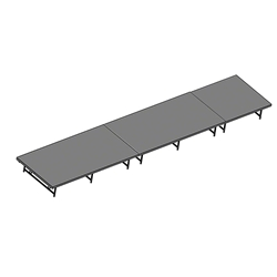 "Staging 101 4x20 Stage System, 16""-24"" High 4x20, 20x4, 4 x 20 staging platform, stage deck, dual height, adjustable height"