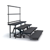 Staging 101 4-Tier Straight Folding Choral Riser with Guard Rail