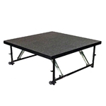 "Staging 101 4'x4' Stage Panel with Wheels, 16""-24"" High 4x4 staging platform, stage deck, wheeles, wheeled, casters"