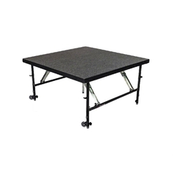 "Staging 101 4x4 Stage Panel with Wheels, 24""-32"" High 4x4 staging platform, stage deck, wheeles, wheeled, casters"