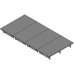 "Staging 101 8'x16' Stage System, 24""-32"" High staging platform, stage deck, folding stage, 8x16, 16x8, 148 square feet, 4x32, 32x4,"