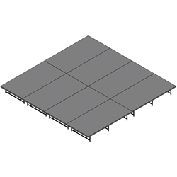 "Staging 101 16x16 Stage System, 16""-24"" High 16x16, 16 x 16 staging platform, stage deck, dual height, adjustable height, 8x32, 32x8, 8 x 32, 32 x 8"