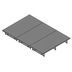 "Staging 101 8x12 Stage System, 16""-24"" High stage 101, staging 101 portable stage, 12x8, 8x12, 24x4, 4x24, 96 square feet, small stage, dual height, adjustable height"
