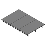 "Staging 101 8'x12' Stage System, 16""-24"" High stage 101, staging 101 portable stage, 12x8, 8x12, 24x4, 4x24, 96 square feet, small stage, dual height, adjustable height"