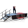 TotalPackage™ Dual-Height Portable Stage Kit with Wheels, 8'x12'