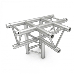 Pro-Flex Triangle Truss 3-Way T Corner with Leg global truss, dura truss, euro truss