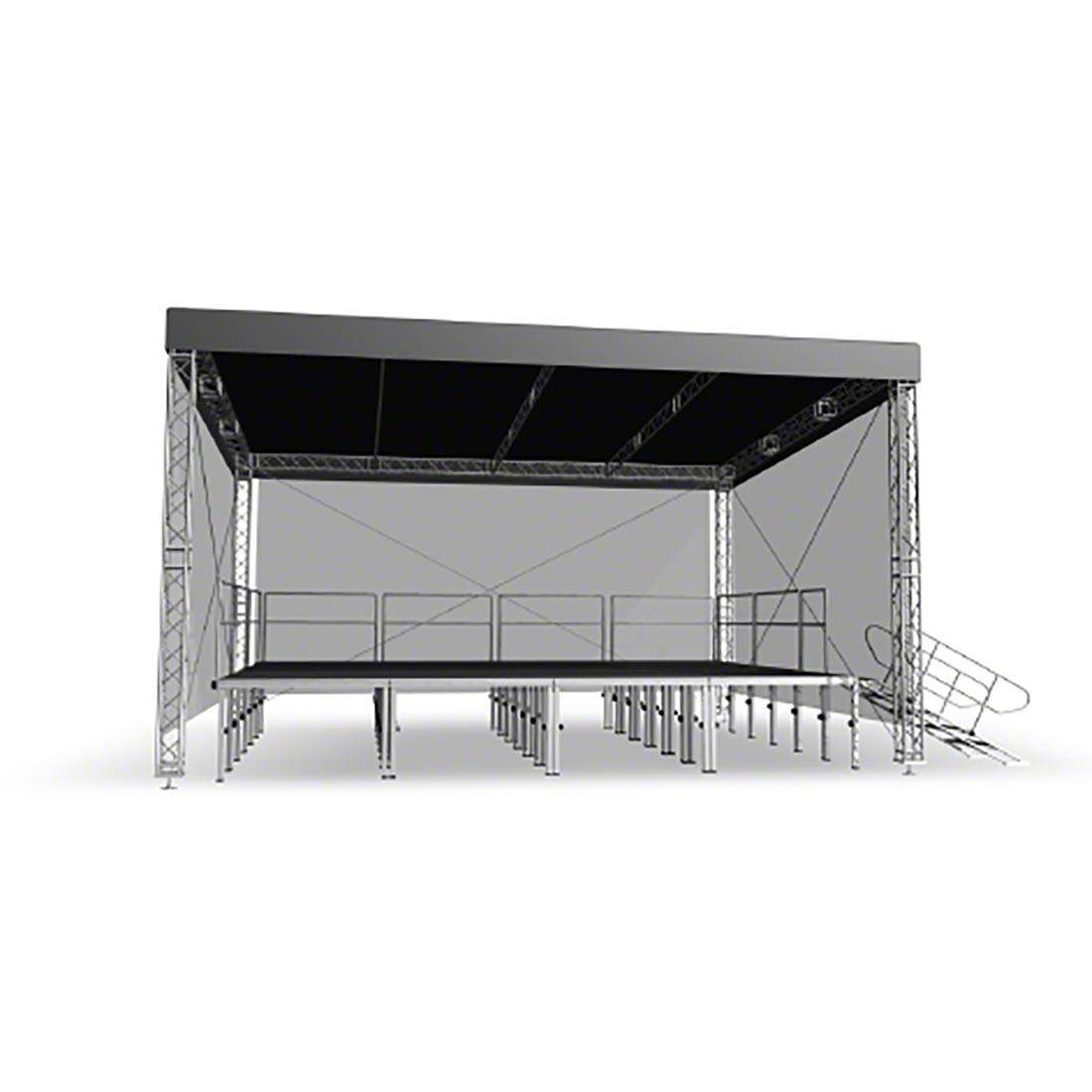 Pro-Flex Straight Light Roof Canopy u0026&; Truss Package for 12u0027x8u0027 ...  sc 1 st  StageDrop Portable Stage u0026 Truss & Pro-Flex Straight Light Roof Canopy u0026 Truss Package for 12u0027x8 ...