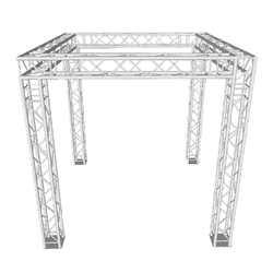 ProX EXPO 10x10 Trade Show Booth F34 Square Truss Package 10x10, 10 x 10 portable stage trussing, exhibitor booth