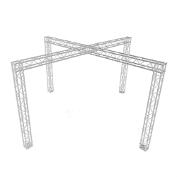 ProX EXPO 23x23 Trade Show X-Cross Booth F34 Square Truss Package 23x23, 23 x 23 portable stage trussing, exhibitor booth,