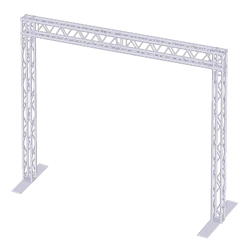 ProX EXPO 10x20 Goal Post Finish Line F34 Square Truss Package 10x20, 10 x 20 portable stage trussing, exhibitor booth, finish line, TSGP20x10