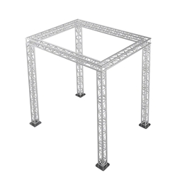 "Pro-Flex 12"" Square Truss Package for 12x16 Stages, 11.55 ft High 12x16, 16x12 portable stage trussing"