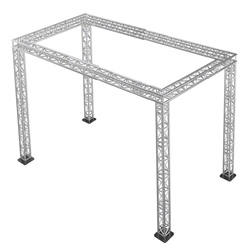 "Pro-Flex 12"" Square Truss Package for 12x24 Stages, 11.55 ft High 12x24, 24x12 portable stage trussing"