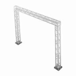 ProFlex 10x10 Goalie Post F34 Square Box Truss Package portable stage trussing, goalie post truss, up and over truss, walkway truss, goalie truss, portable truss, 10x10 truss