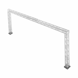ProFlex 20x10 Goalie Post F34 Square Box Truss Package portable stage trussing, goalie post truss, up and over truss, walkway truss, goalie truss, portable truss, 20x10 truss