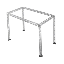 "Pro-Flex 12"" Triangle Truss Package for 12x24 Stages, 14.84 ft High 12x24, 24x12 portable stage trussing"