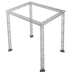 "Pro-Flex 12"" Triangle Truss Package for 12x16 Stages, 11.55 ft High 12x16, 16x12 portable stage trussing"