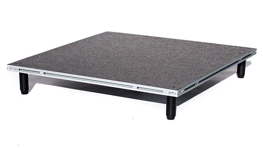 IntelliStage Lightweight 3x3 Portable Stage Unit with 6 Inch Screw-in Legs