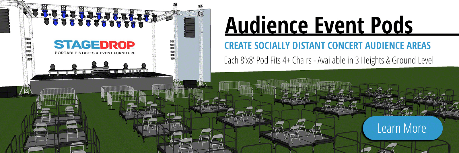 Audience Event Pods - For Socially Distant Concerts
