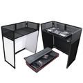 ProX Vista Mobile DJ Booth Workstation