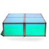 "ProX Lumo Stage 4'x4' Acrylic Dance Stage w/Optional LED Lights, 16"" High"
