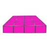 "ProX Lumo Stage 8'x8' Acrylic Dance Stage w/Optional LED Lights, 16"" High"