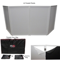 ProX 4 Panel Collapse-and-Go DJ Facade Package, White Frame (MK2)