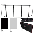 ProX 5 Panel Quick-Release DJ Facade Package, Black Frame
