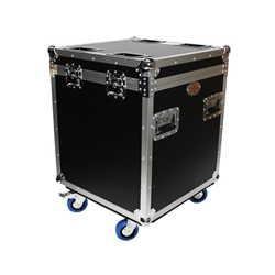 ProX XS-UTL4 Half-Trunk Utility Flight Case for Stage Hardware & Accessories portable stage trunk, storage, transportation, stage storage, half-size utility trunk, accessory storage, flight case, road case, rolling