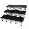 "ProX StageX 3-Step Stairs for 32"" High Stage"