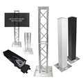 ProX Flex Tower Totem Package w/Soft Carrying Bag, Adjustable 3.3'H - 6.6'H
