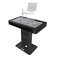 ProX Pioneer Control Tower DJ Podium & Cases, Black