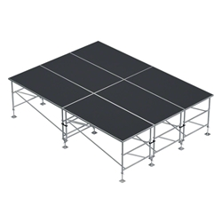 "ProX StageQ 12x16 Z-Frame Portable Stage Package, 36""-60"" High ProX Direct, ProX Stage Q, portable stage, portable staging, adjustable height stage, MK2, StageQ Mk2, z-frame, z frame stage"