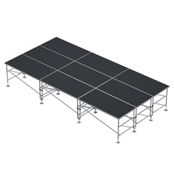"ProX StageQ 12x24 Z-Frame Portable Stage Package, 36""-60"" High ProX Direct, ProX Stage Q, portable stage, portable staging, adjustable height stage, MK2, StageQ Mk2, z-frame, z frame stage"