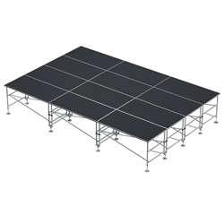 "ProX StageQ 16x24 Z-Frame Portable Stage Package, 36""-60"" High ProX Direct, ProX Stage Q, portable stage, portable staging, adjustable height stage, MK2, StageQ Mk2, z-frame, z frame stage"