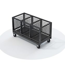 QuickLock Staging Leg & Hardware Storage Cart stage leg storage, stage hardware store, leg cart, hardware cart, storage cart, rolling cart, transport, storage trolley, storage dolly