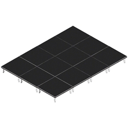 QuickLock Staging 12x16 Indoor/Outdoor Stage System 12x16, 16x12, portable stage platform, portable staging platform, stage deck, stage panel, quicklock, quicklock staging
