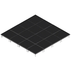QuickLock Staging 16x16 Indoor/Outdoor Stage System 16x16, 16 x 16, portable stage platform, portable staging platform, stage deck, stage panel, quicklock, quicklock staging