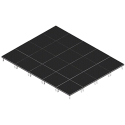 QuickLock Staging 16x20 Indoor/Outdoor Stage System 16x20, 20x16, portable stage platform, portable staging platform, stage deck, stage panel, quicklock, quicklock staging